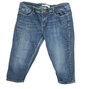VIGOSS Capri Jeans Denim Low Rise Size 32 Blue